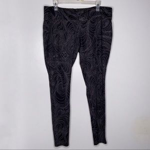 Mossimo Black and Gray Leggings Size XL